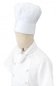 コック帽とは、厨房で働く料理人が着用する帽子のことです。